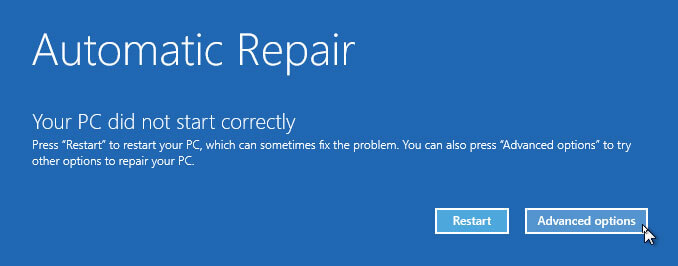 Windows 10 Boot Failure