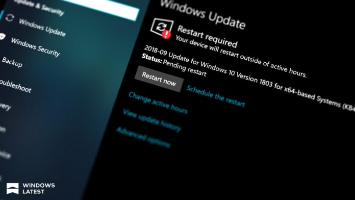 Windows 10 Update Sccreen featuring KB4524244